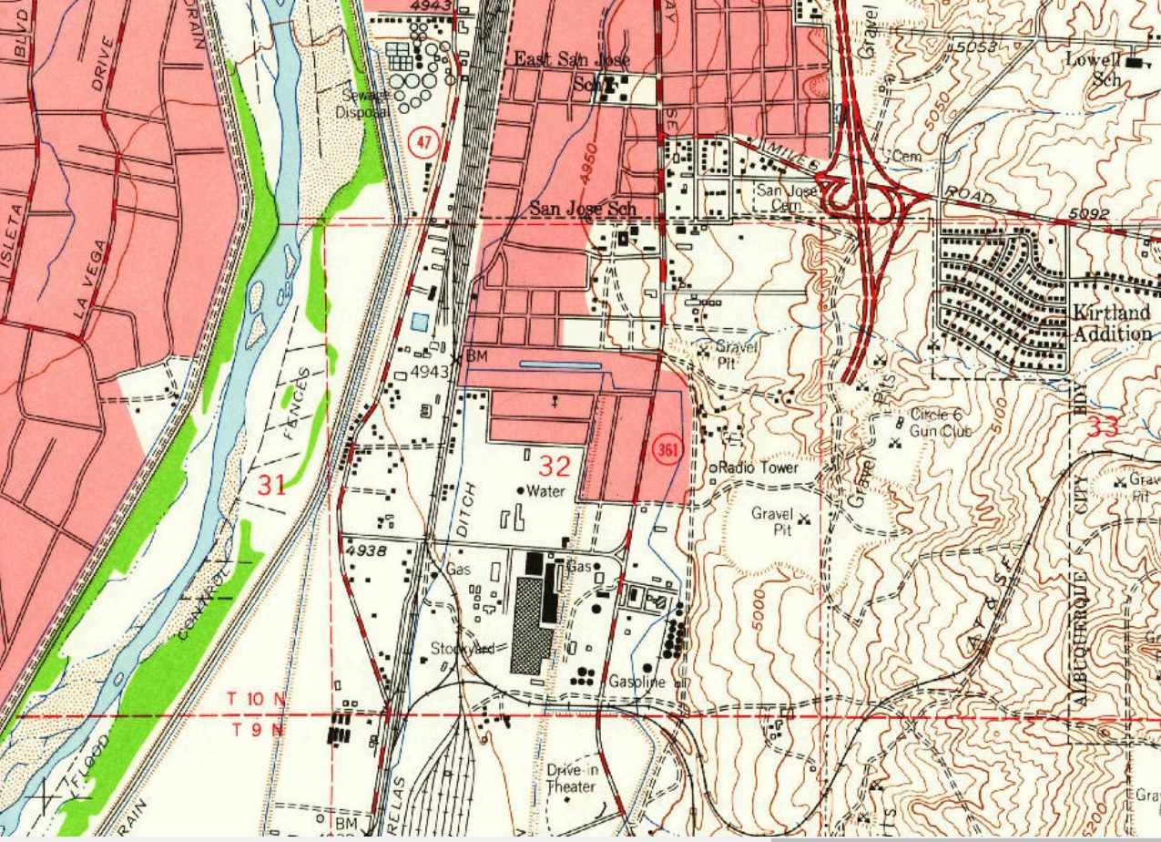 Albuquerque Historical Maps The Motherlode Better Burque