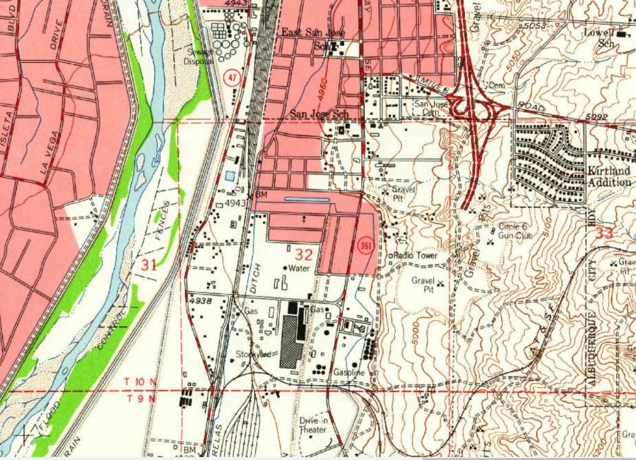 1960 abq map excerpt