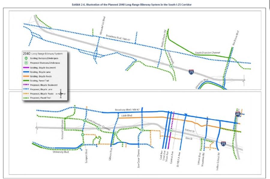 i-25 study 2040 long range bikeway