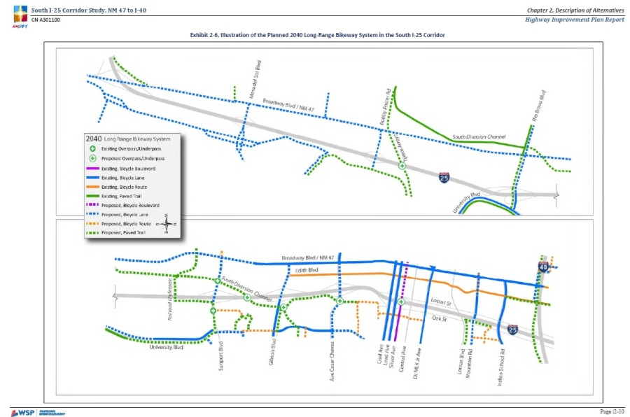 2040 bikeways from I-25 Study