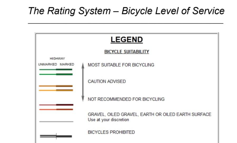 idot bike level of service