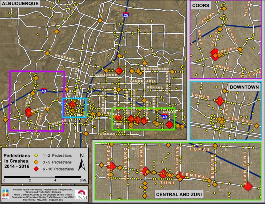 tru pedestrian map