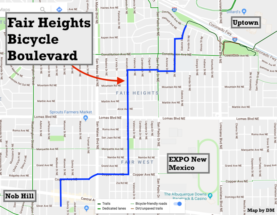 fair heights bike blvd map
