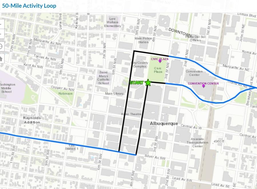 50-mile loop downtown