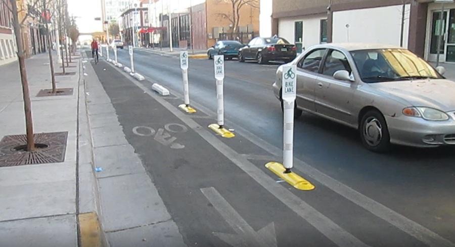 protected bike lane 4th