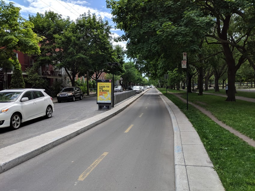 Cycle Track at Parc Laurier