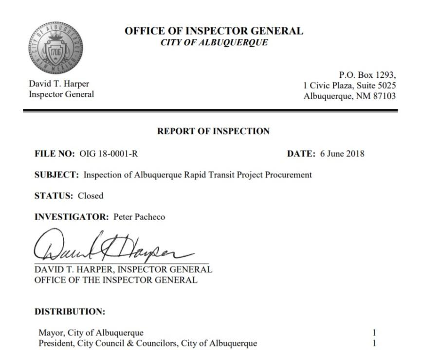 inspector generals report