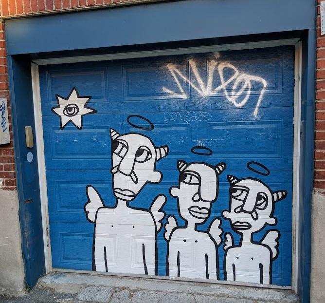 mural garage door