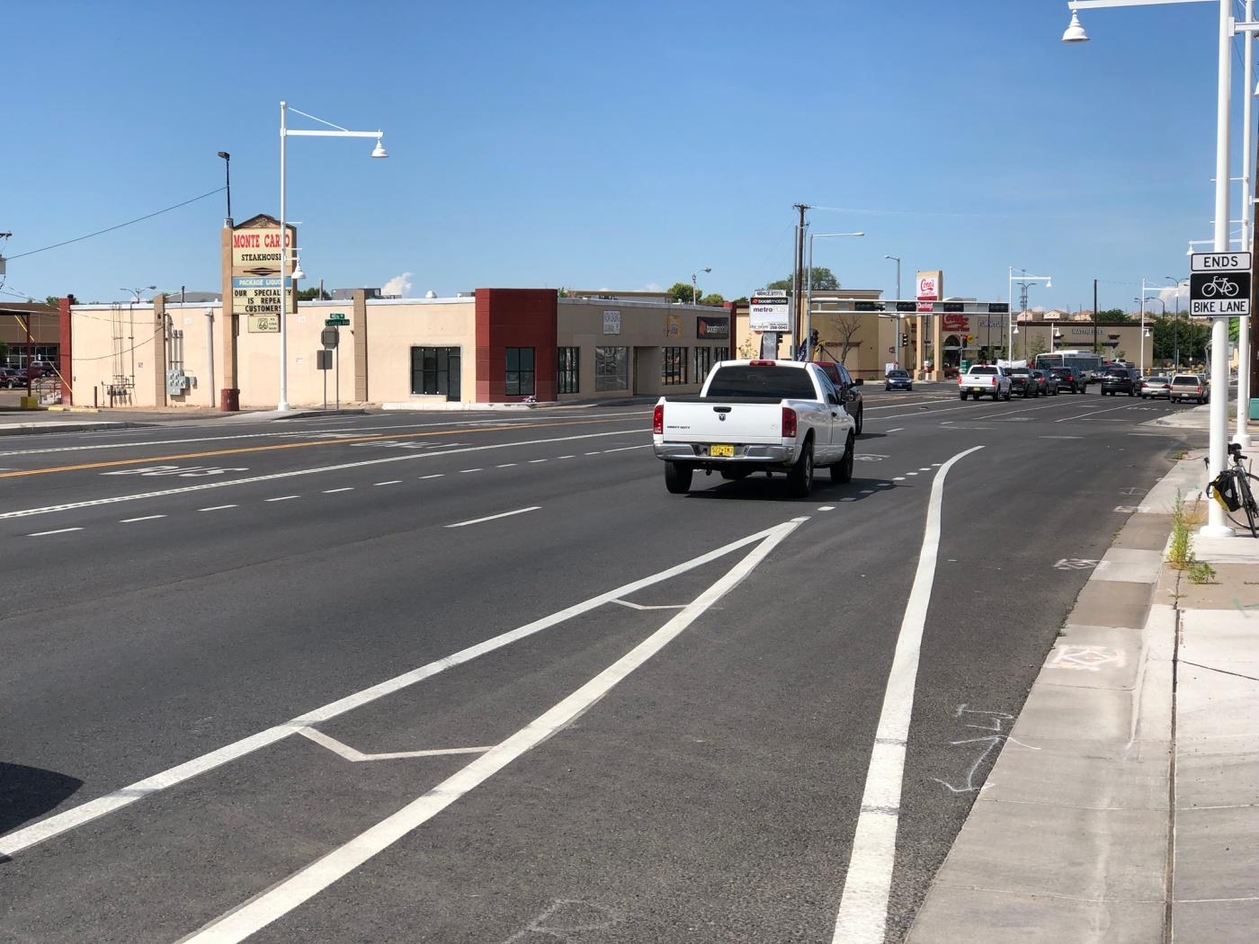 """Bike lane meets MUTCD standards"""