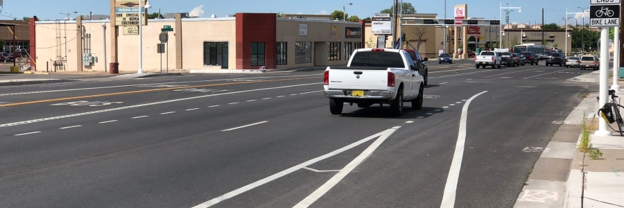 """Bike lane meets MUTCD standards"""