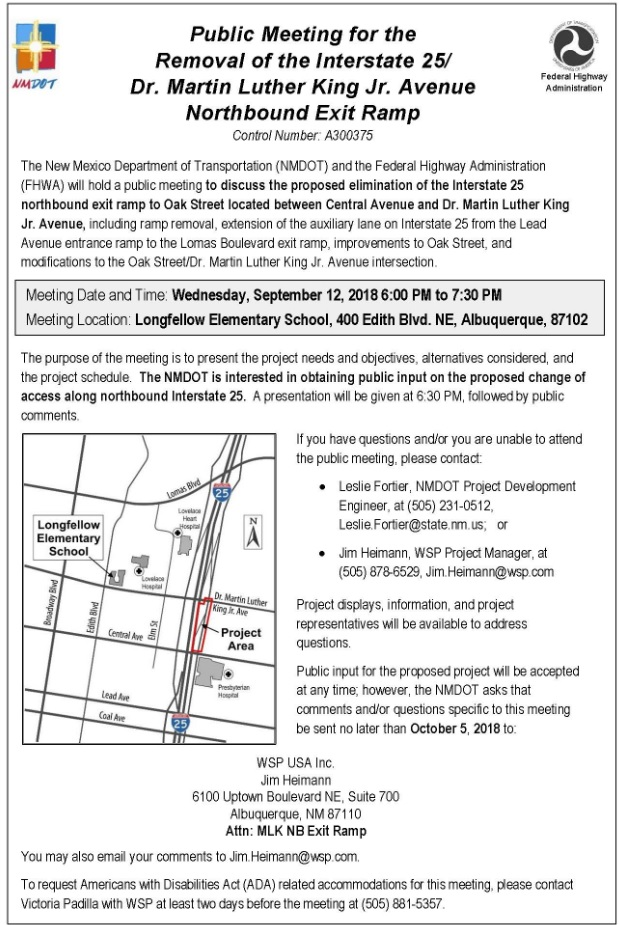 MLK Off Ramp Closure Public Meeting