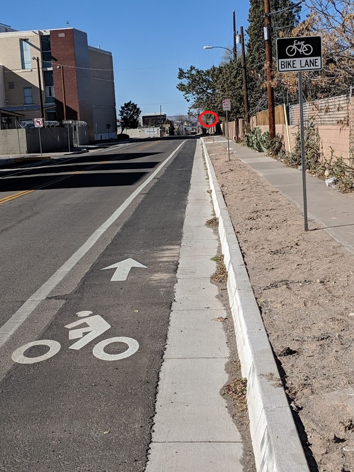 bike lane starts and ends