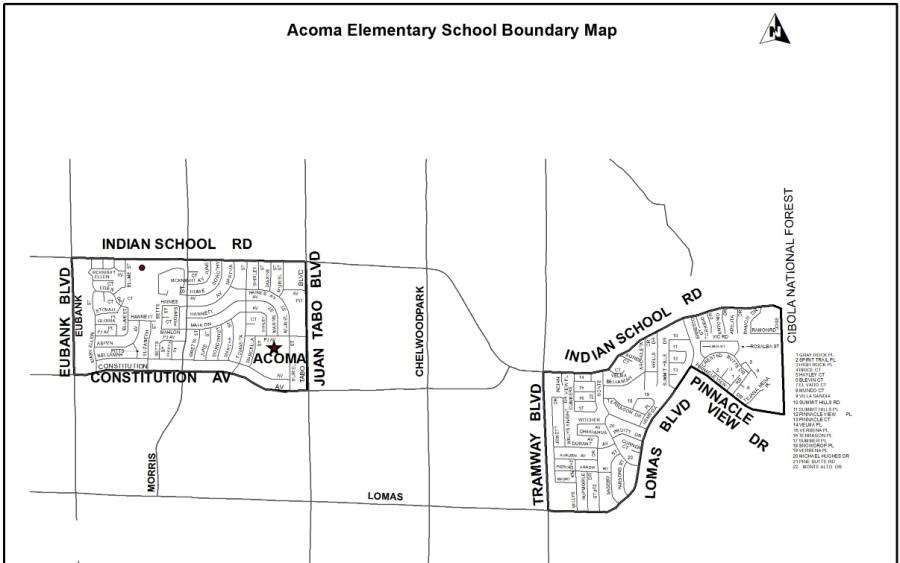acoma elementary boundary
