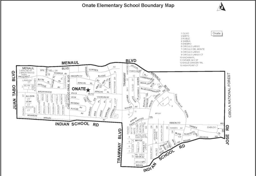 onate elementary boundary