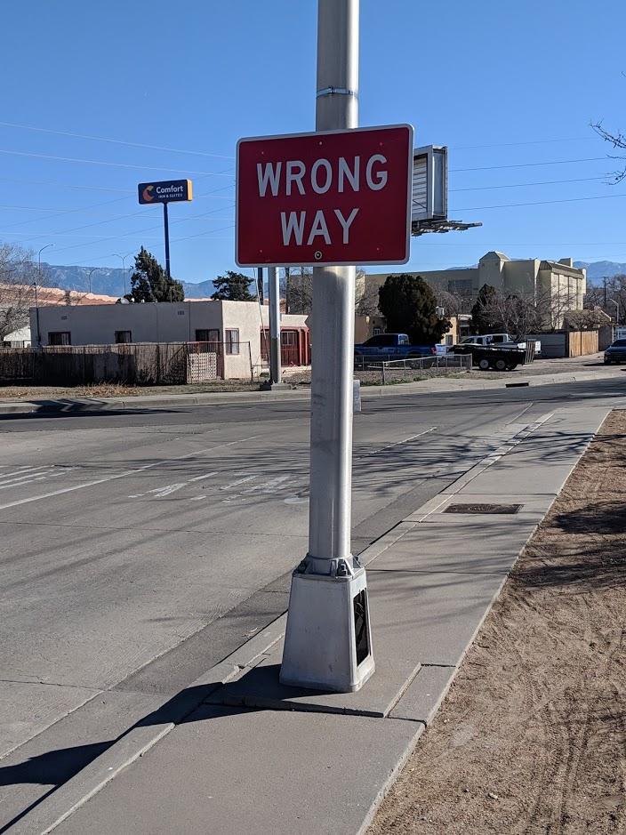 ada wrong way
