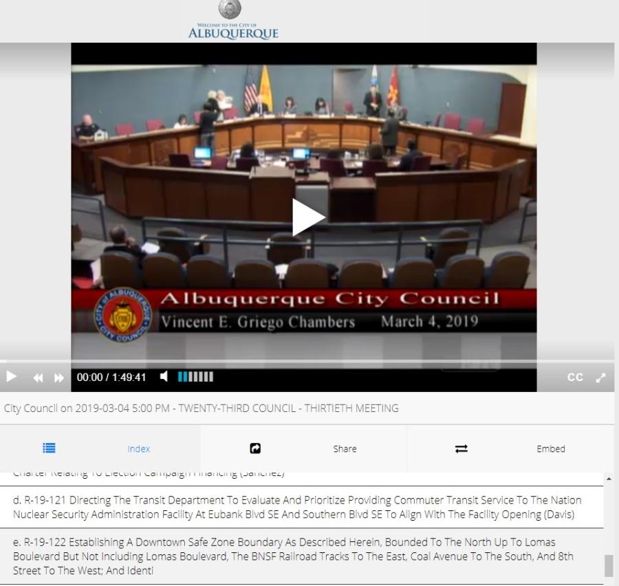 city council dsz discussion