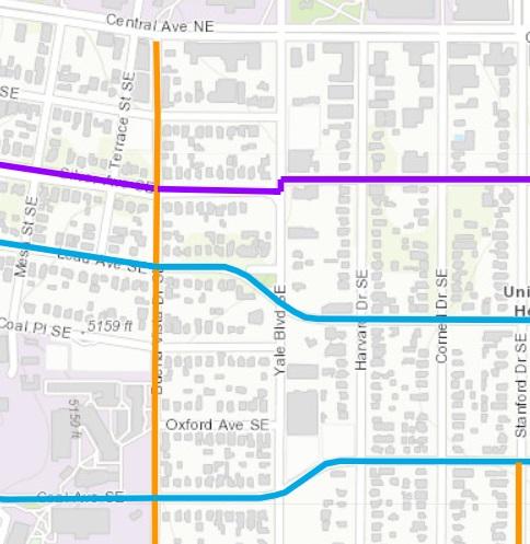 yale not bike route