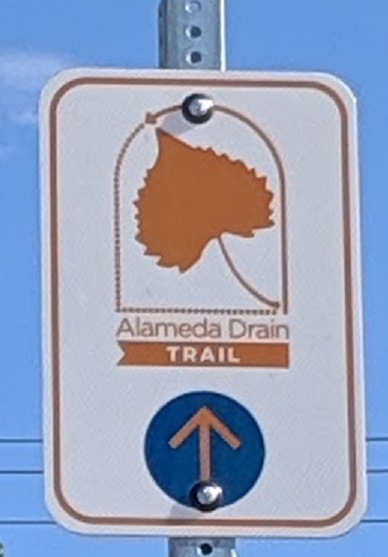 alameda drain sign close-up